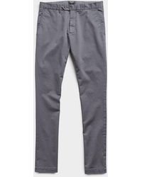 Todd Synder X Champion Extra Slim Fit Tab Front Stretch Chino In Charcoal - Gray