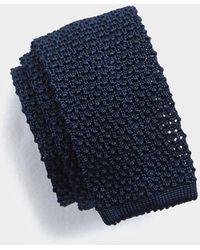 Todd Synder X Champion Classic Knit Silk Tie - Blue