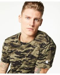 Todd Snyder - Camo Tee In Olive - Lyst