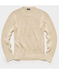 Todd Synder X Champion Italian Linen Crewneck Sweater - Natural