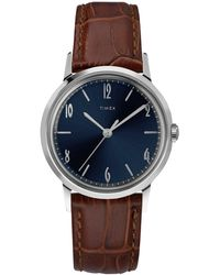 Timex Exclusive Marlin Watch Navy Dial - Brown