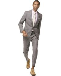 Todd Synder X Champion Sutton Suit Jacket In Italian Natural Stretch Light Grey Wool - Gray