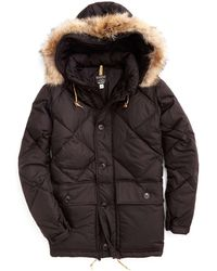 Todd Synder X Champion Rocky Mountain Featherbed Nylon Quilted Hooded Parka In Black