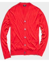 Todd Synder X Champion Cotton Silk Cardigan - Red