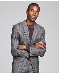 Todd Synder X Champion Wool Glen Plaid Sutton Suit - Gray