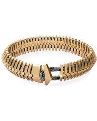 Miansai - Klink Bracelet In Brass - Lyst
