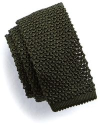 Todd Snyder - Classic Knit Silk Tie In Olive - Lyst