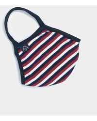 Todd Synder X Champion Cotton Jersey Stripe Face Mask - Blue