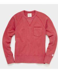 Todd Synder X Champion Midweight Pocket Sweatshirt - Red