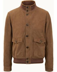 Tod's Bomber In Suede - Brown