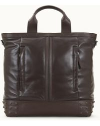 Tod's Tote Shopping Bag Medium In Leather - Brown