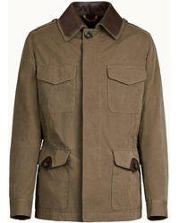Tod's - Field Jacket in Misto Cotone - Lyst