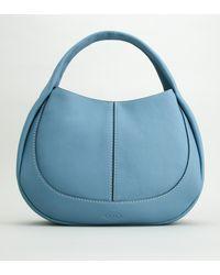 Tod's Shirt Hobo Bag Grande - Blu