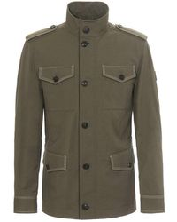 Tod's - Field Jacket In Cotton And Linen - Lyst