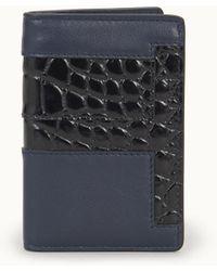 Tod's Vertical Credit Card Holder - Blue