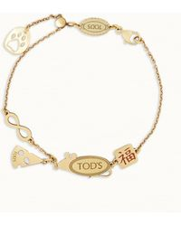 Tod's Rat Cheese Chain Bracelet - Blue