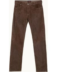 Tod's - Trousers In Suede - Lyst