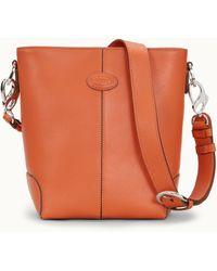 Tod's Bag In Leather Mini - Orange