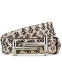 Tod's - Belt In Reptile - Lyst