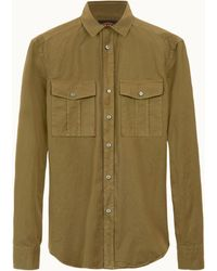 Tod's Shirt In Cotton - Green