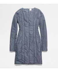 Tod's Robe Matelassée - Gris