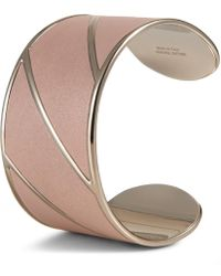 Tod's - Cuff In Metal And Leather - Lyst