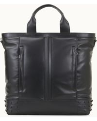 Tod's Tote Shopping Bag Medium In Leather - Black