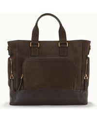 Tod's Shopping Bag In Suede Medium - Brown