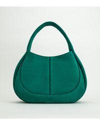 Tod's Shirt Hobo Bag Media - Verde