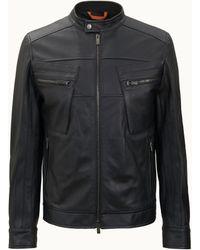 Tod's Biker In Leather - Black