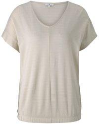 Tom Tailor Strukturiertes T-Shirt mit elastischem Bund - Mehrfarbig
