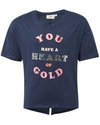 Tom Tailor Mädchen T-Shirt mit Glitzer-Print - Blau