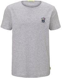 Tom Tailor DENIM Schlichtes T-Shirt - Grau