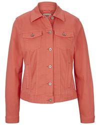 Tom Tailor Gefärbte Jeansjacke mit Bio-Baumwolle - Rot