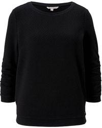 Tom Tailor DENIM Strukturiertes Sweatshirt - Schwarz