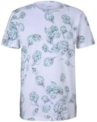 Tom Tailor DENIM gemustertes T-Shirt - Weiß