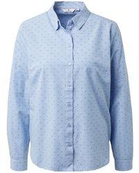 Tom Tailor Gemusterte Hemdbluse - Blau