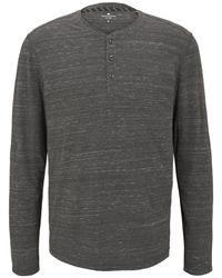 Tom Tailor Langarmshirt in Melange-Optik - Grau