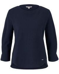 Tom Tailor DENIM Sweatshirt mit Ärmeldetail - Blau