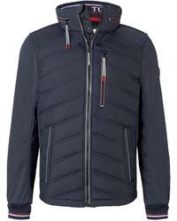 Tom Tailor Hybrid Fleece-Jacke - Blau