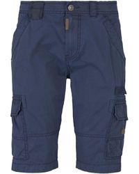 Tom Tailor Cargo Bermuda Shorts - Blau
