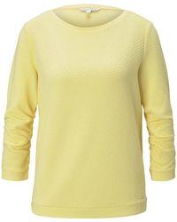 Tom Tailor DENIM Strukturiertes Sweatshirt - Gelb