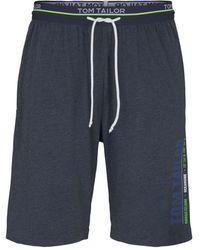 Tom Tailor Pyjama Shorts - Blau