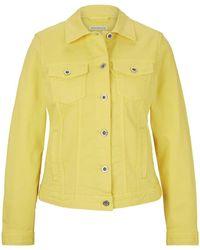 Tom Tailor Gefärbte Jeansjacke mit Bio-Baumwolle - Gelb