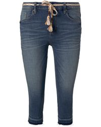 Tom Tailor Alexa Slim Capri-Jeans mit Abrasionen - Braun