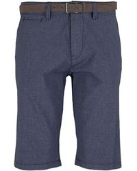 Tom Tailor Josh Slim Chinoshorts mit Gürtel - Blau