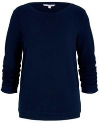Tom Tailor DENIM Strukturiertes Sweatshirt - Blau