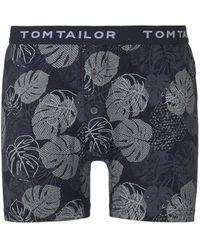 Tom Tailor Gemusterte Boxer-Shorts - Blau