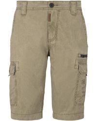 Tom Tailor Cargo Bermuda-Shorts im Washed-Look - Natur