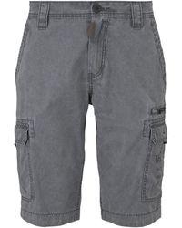 Tom Tailor Cargo Bermuda-Shorts im Washed-Look - Grau
